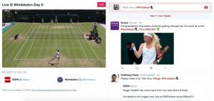 Twitter live sport